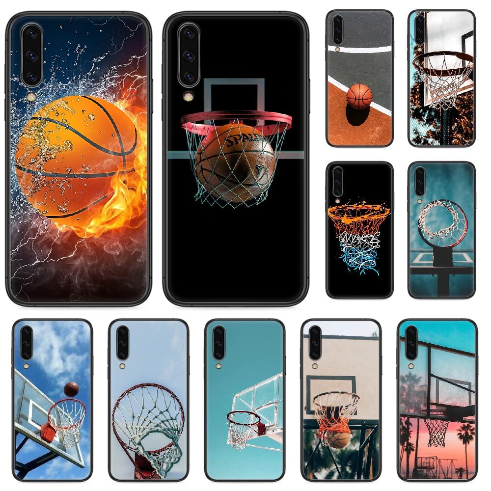 Funda de teléfono de tablero de baloncesto para Samsung Galaxy A 5 10 20 3 30 40 50 51 7 70 71 E S 4G 16 17 18, funda negra de silicona