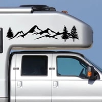 2 car sticker mountain decal tree forest vinyl graphic kit for camper rv trailer