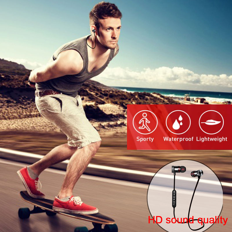 Magnetic Bluetooth Earphone Sports Neckband Magnetic Wireless Gaming Headset Stereo Earbuds Metal Earphones With Micforxiaomi enlarge