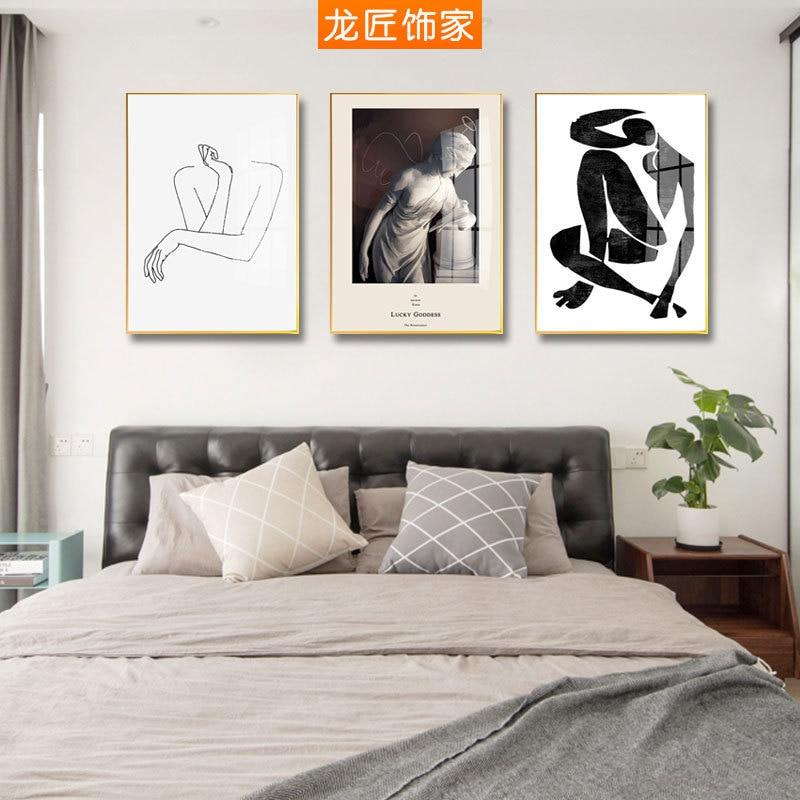 Familia Longg Marco de aleación de aluminio minimalista moderno salón pintura decorativa estilo europeo del Norte entrada abstracta Cr