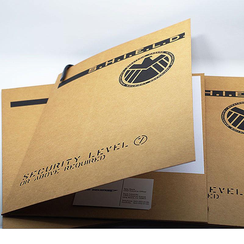 1 pcs SHIELD folder Iron Man Aegis Special Agent Aegis Bureau folder Aegis archive bag