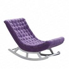 Nordique Simple fauteuil à bascule inclinable femmes enceintes vieille chaise paresseux canapé Simple balcon sieste chaise facile fauteuil à bascule Dotomy