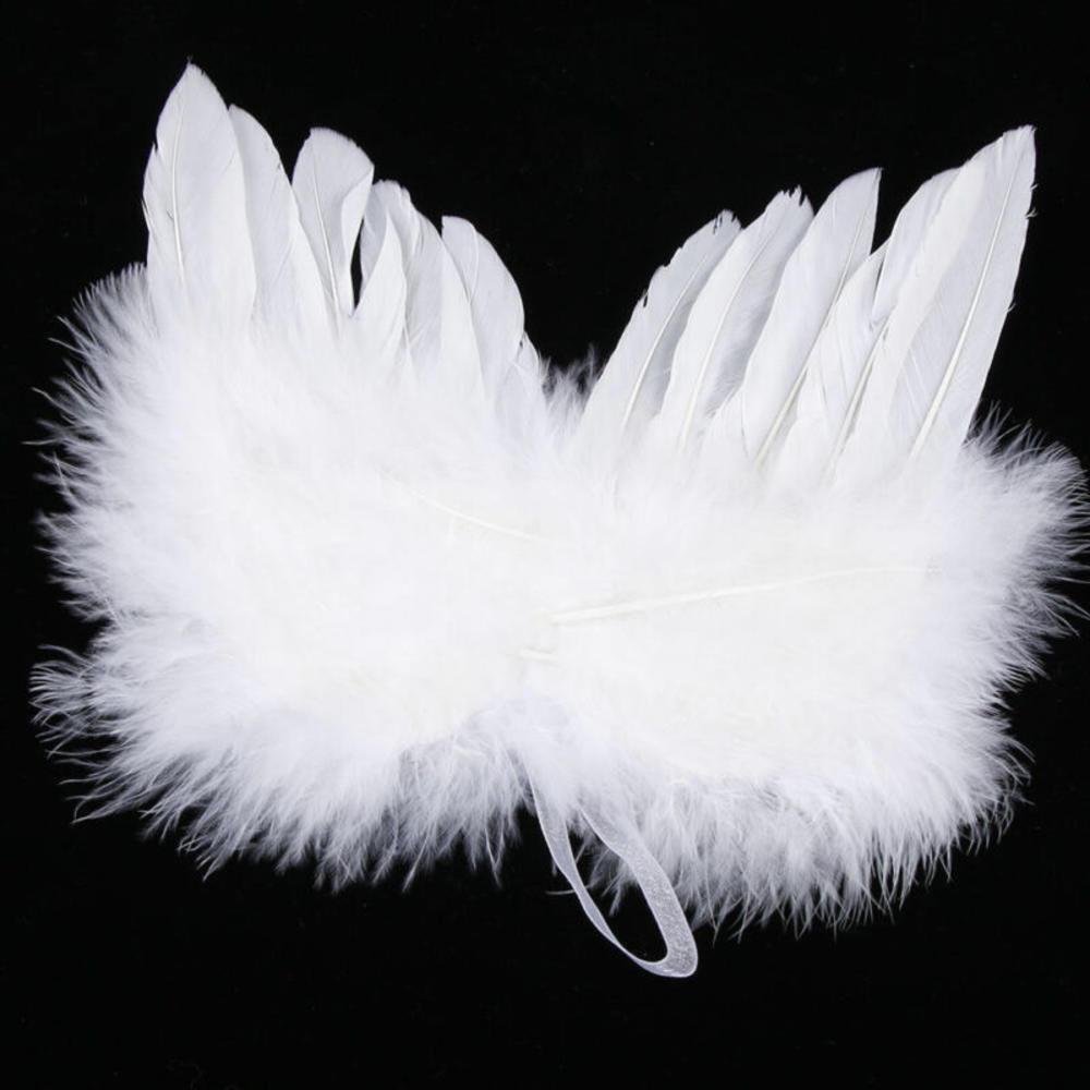 1Pcs לבן נוצת כנף יפה שיק מלאך חג המולד עץ קישוט תליית קישוט הבית/מסיבה/חתונת קישוטים