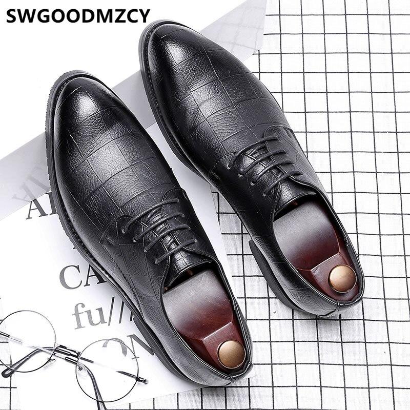 Sapatos para homem sapatos de couro preto e branco sapatos de couro para homens