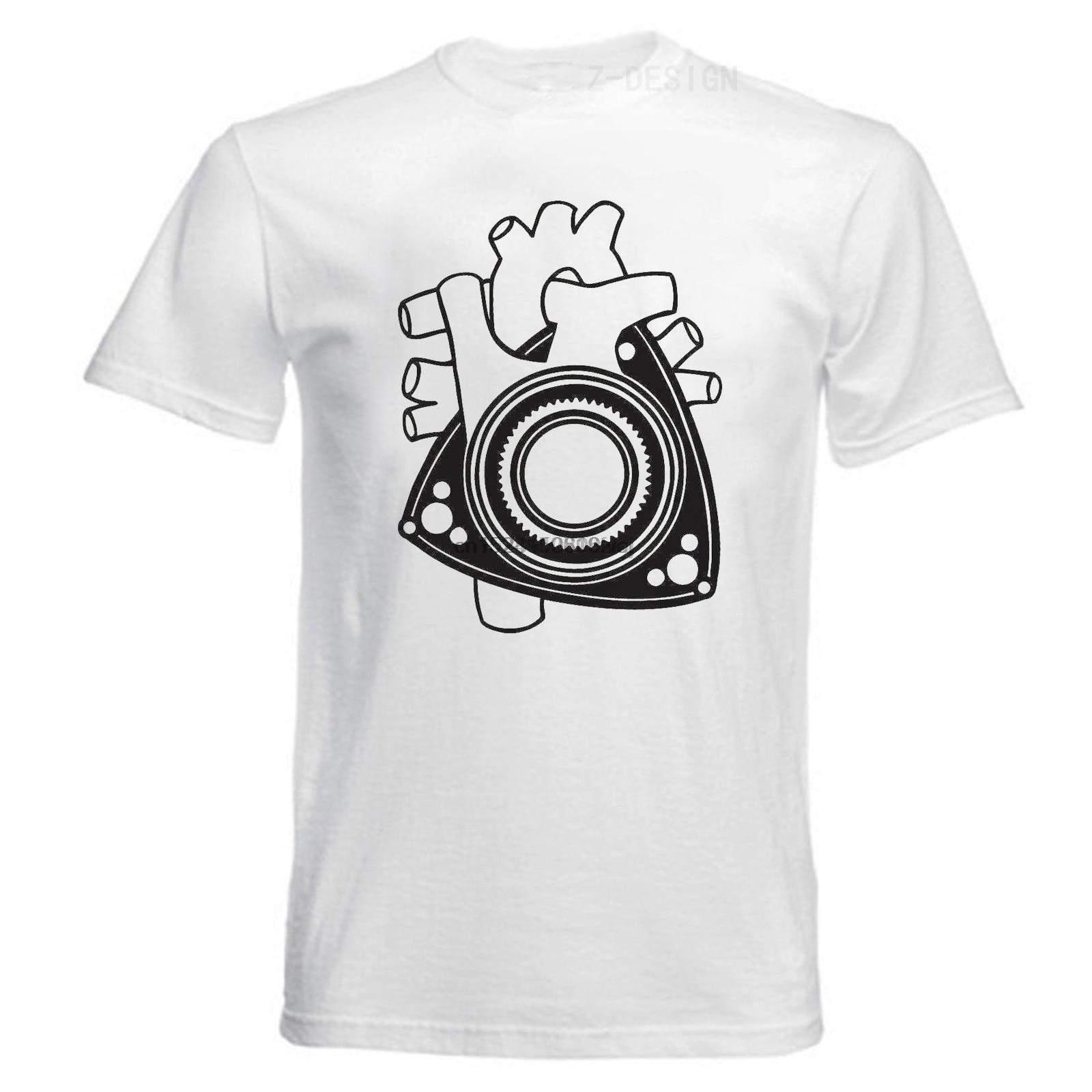 LEFEDA Mazda Rotary Engine Wankel Heart Graphic Tee Shirt Mens Shirt Cotton Shirt Casual T Shirt White S-XXXL Rx-6 Rx-7 Rx-8(1)