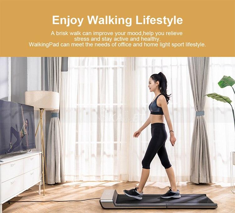 WalkingPad A1-جهاز رياضي كهربائي لاسلكي قابل للطي ، معدات رياضية هوائية ، تحكم عن طريق التطبيق