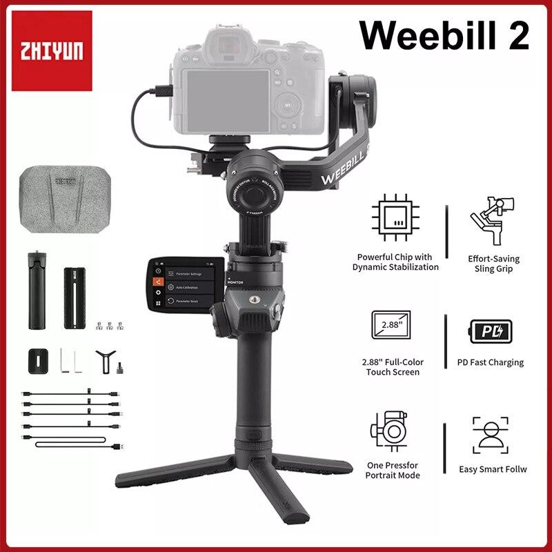 Zhiyun Weebill 2 3-المحور يده Gimbla استقرار مع لمسة شاشة لسوني كانون نيكون DSLR المرايا كاميرا A7M3 A7R3 Z6 Z7