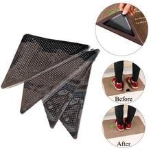 4pcs Reusable Silicone Grip Slip Stickers Non Slip Bathroom Rugs and Mat Set Bath Mat Set Rug Carpet Mat Grippers