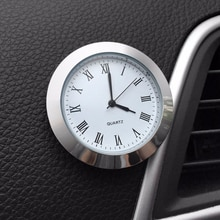 Quartz Car Clock Ornament Automotive Watch Decoration Automobiles Interior Stick-On Time Display Clo