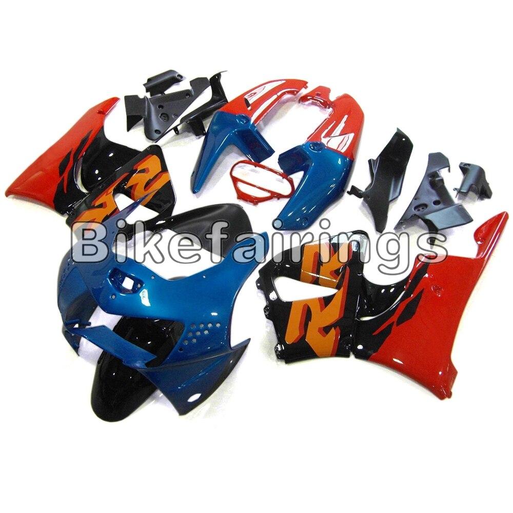Carenado completo Kit para Honda CBR900RR 919, 1998 de 1999 CBR 900 RR 98 99 de plástico ABS de compresión de la motocicleta Cowlings- azul Rojo naranja