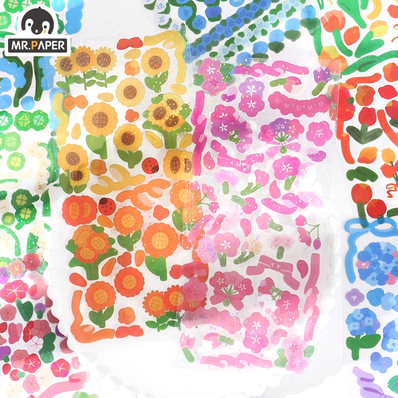 mr-paper-pegatinas-de-hoja-lisa-8-disenos-1-unidad-bolsa-estilo-ins-serie-de-lenguaje-de-flores-cuentas-de-mano-creativas-material-de-decoracion-diy