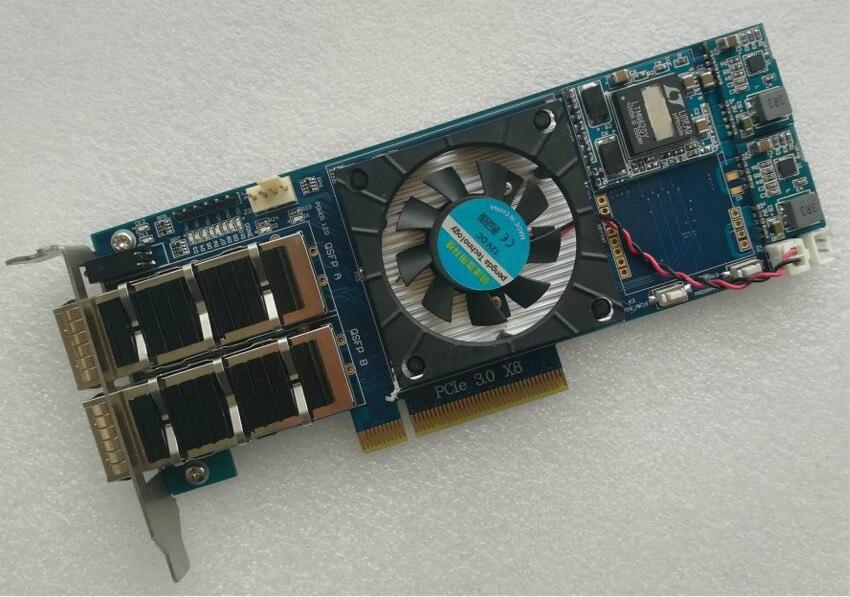 Kintex ultraescala XCKU040 PCIE 3,0 QSFP tarjeta xilinx fpga de xilixn Placa de desarrollo fpga pcie Junta