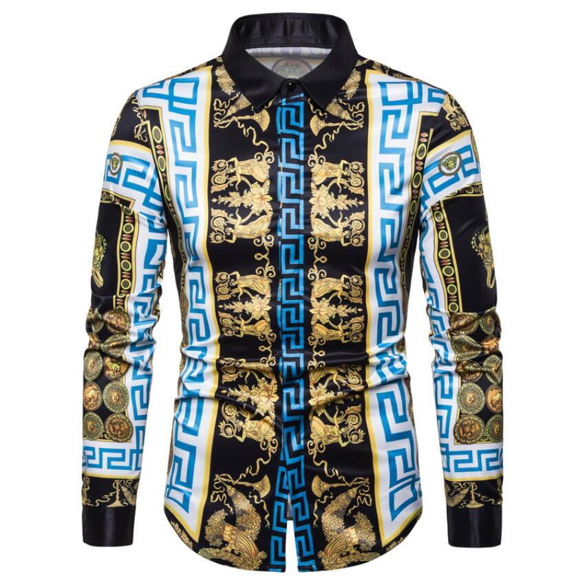 Новинка 2021, стильная брендовая одежда, мужские весенне-осенние повседневные рубашки с длинным рукавом/мужские облегающие деловые рубашки с...