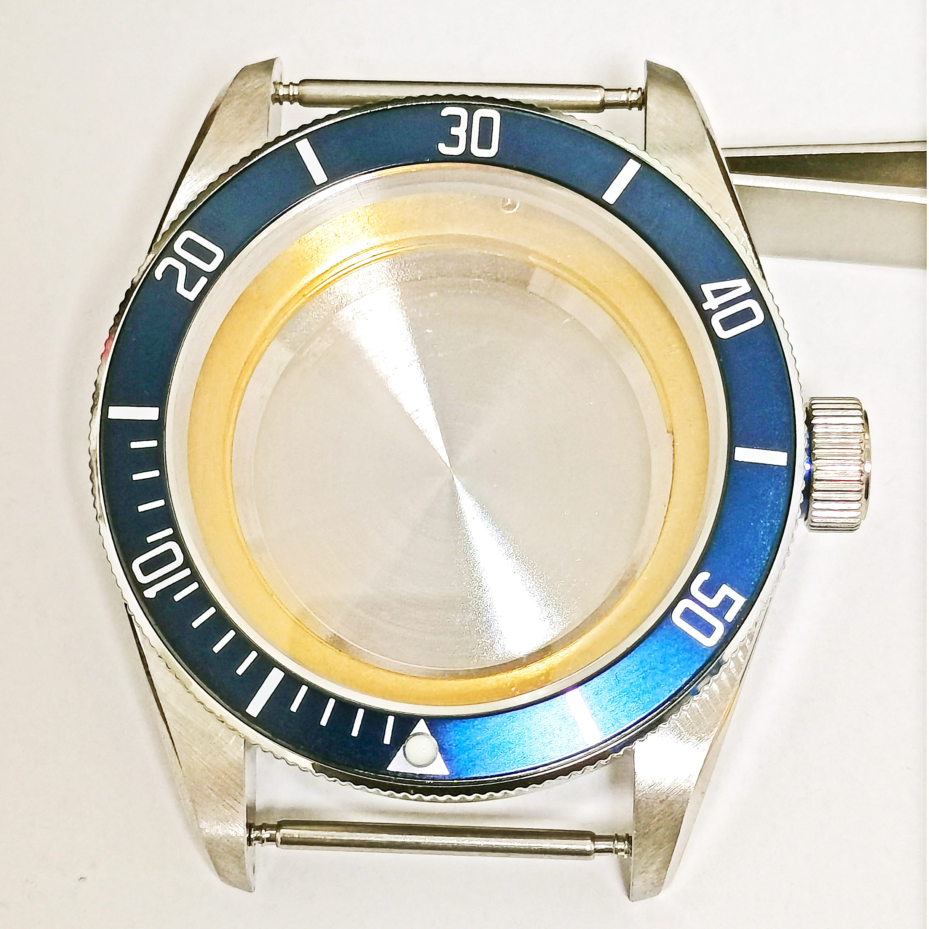 Free Shipping 40MM Man's Watch 316 Stainless Steel Case Dial And Hands For ETA 2836 Automatic Movement miyota8215 Mingzhu2813 enlarge