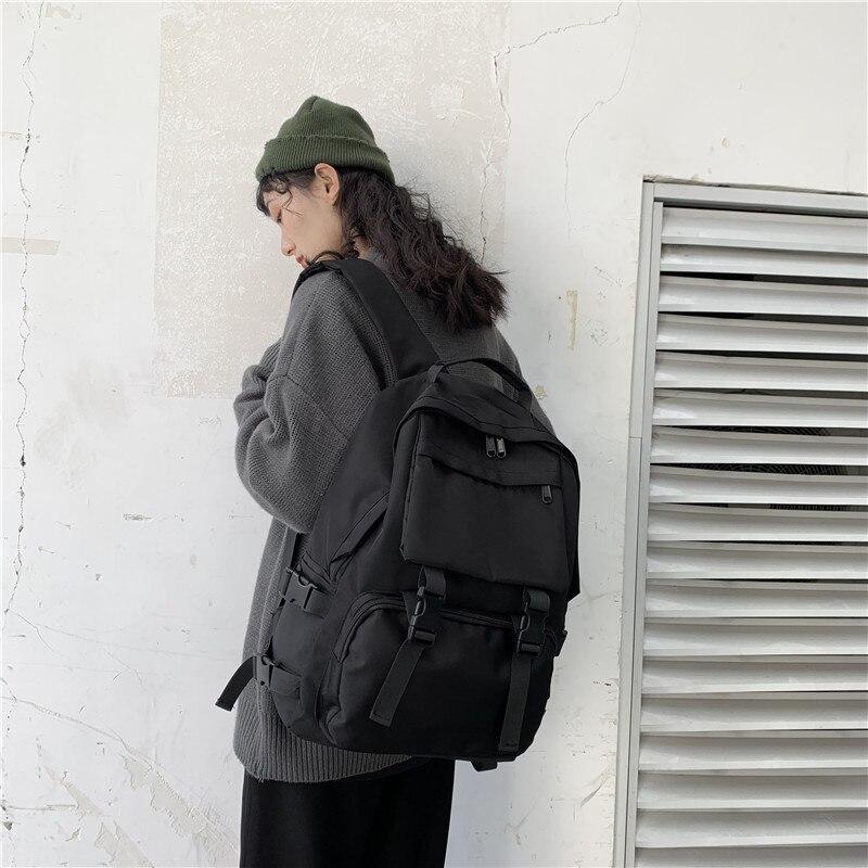 Black Backpack New Trend Female Backpack Fashion Women Backpack Waterproof Large School Bag Teenage Girls Student Shoulder Bags