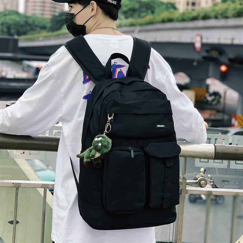 BB2495 2021 موضة جديدة للرجال الاتجاه سعة كبيرة حقيبة ظهر عادية للرجال والنساء الحقائب المدرسية