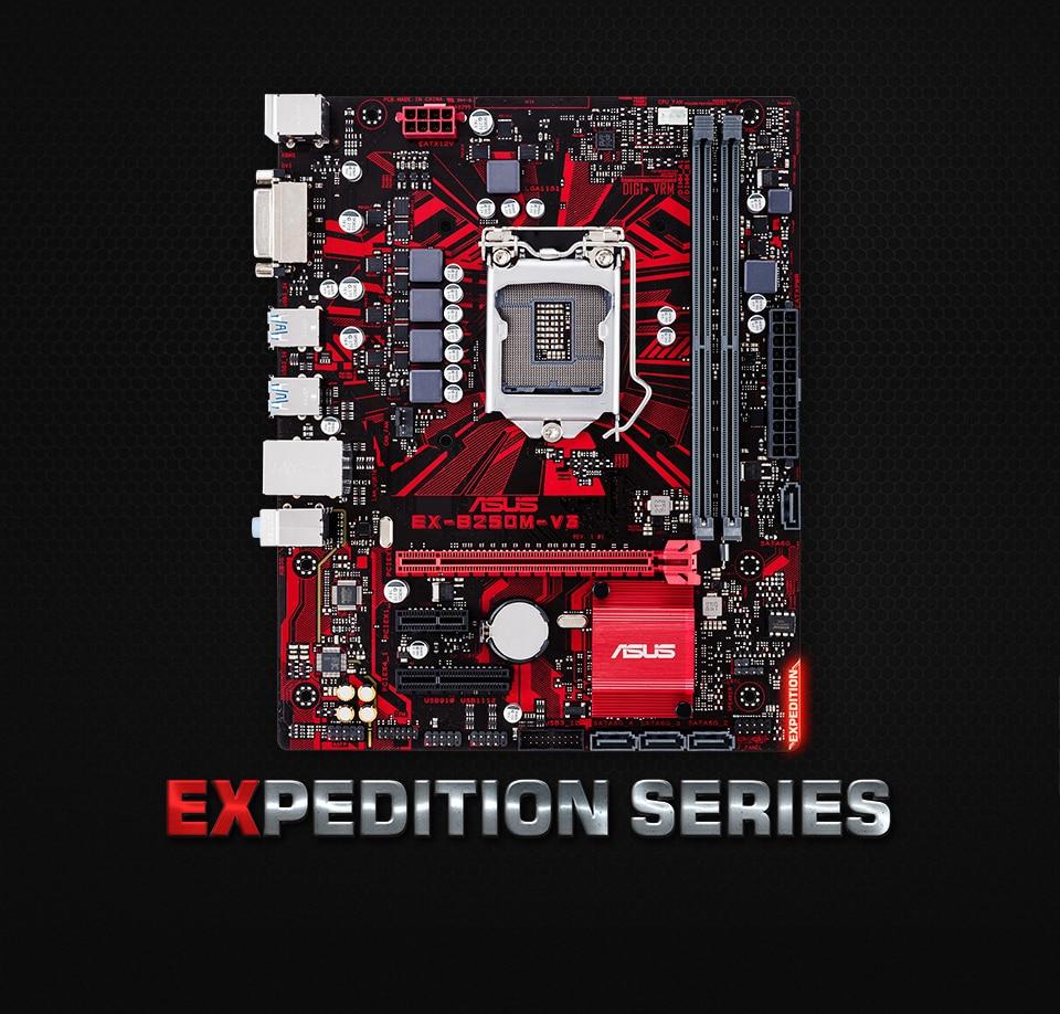 ل Asus EX-B250M-V3 الأصلي المستخدمة سطح المكتب إنتل B250 B250M DDR4 اللوحة LGA 1151 i7/i5/i3 USB3.0 SATA3 ل Asus EX-B250M-V