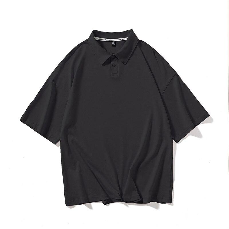 New Man Polo Shirt Mens Casual Drop Shoulder Cotton Tshirt Men Short Sleeve High Quantity Oversized T-Shirt
