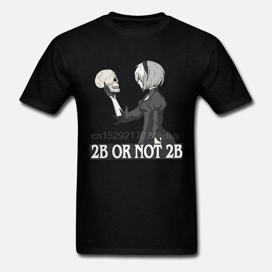 NieR Automata 2B o no 2B para hombres camisetas de moda de juego YoRHa 2B camisetas de manga corta de algodón puro regalo Idea ropa