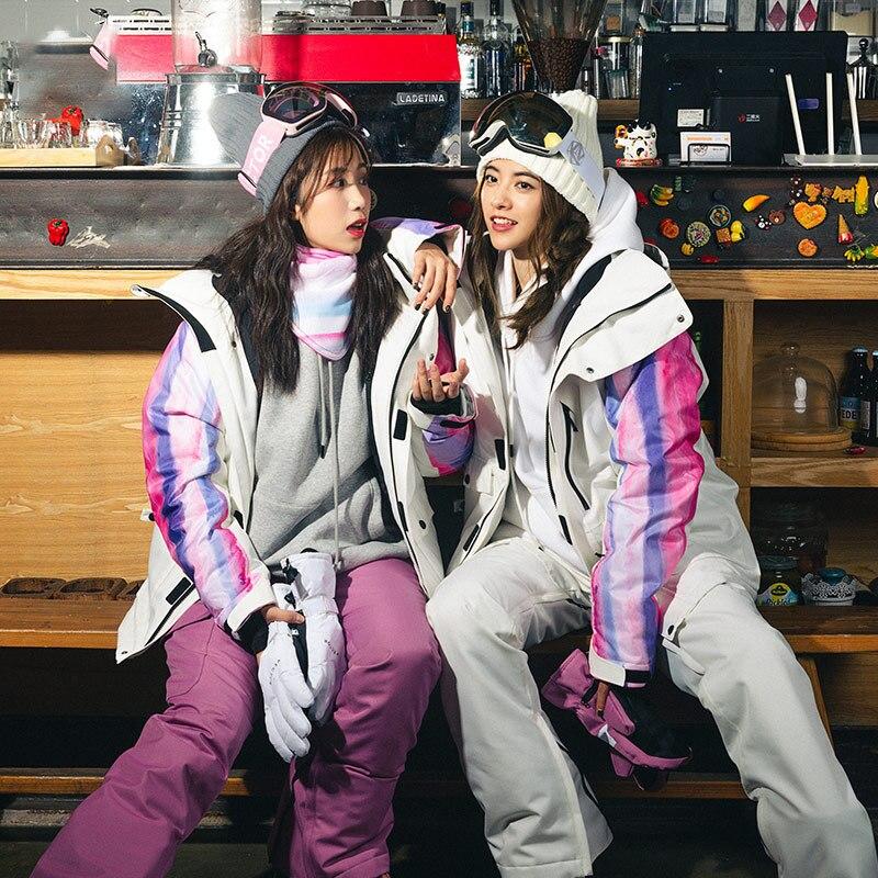2021 зимний лыжный костюм, женские куртки и штаны, теплые женские зимние комплекты, спортивный комбинезон, женские водонепроницаемые куртки и...