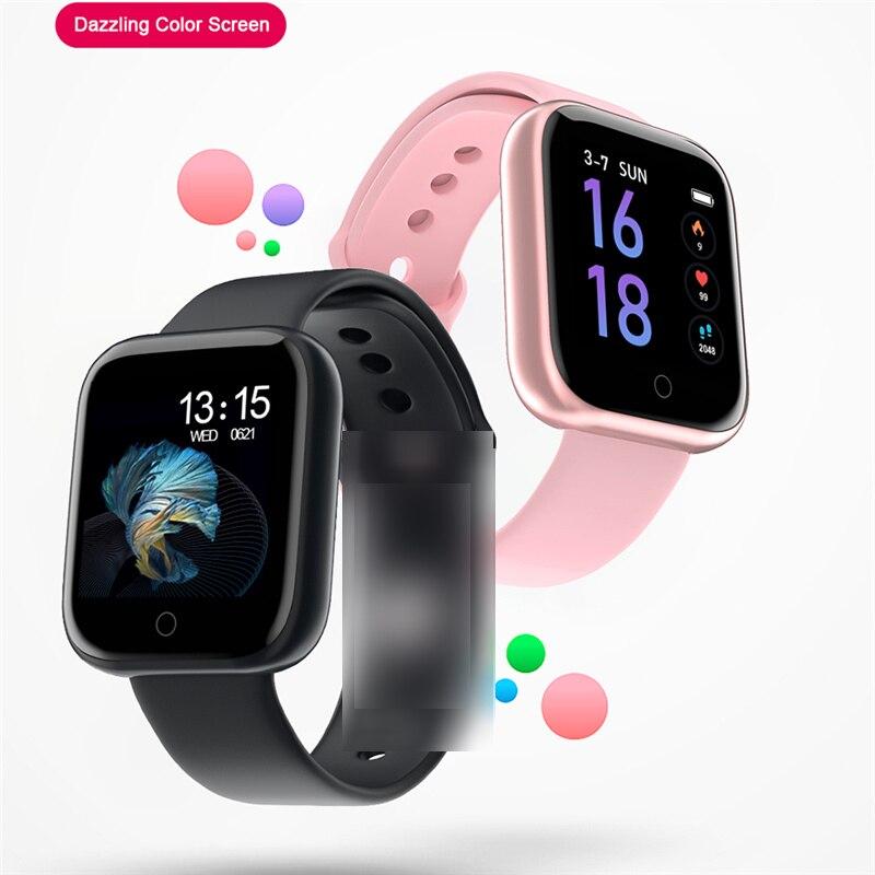 T80 Smart watch waterproof T80S smart bracelet Activity Fitness tracker Heart rate monitor Band Men women smartwatch VS B57 P70