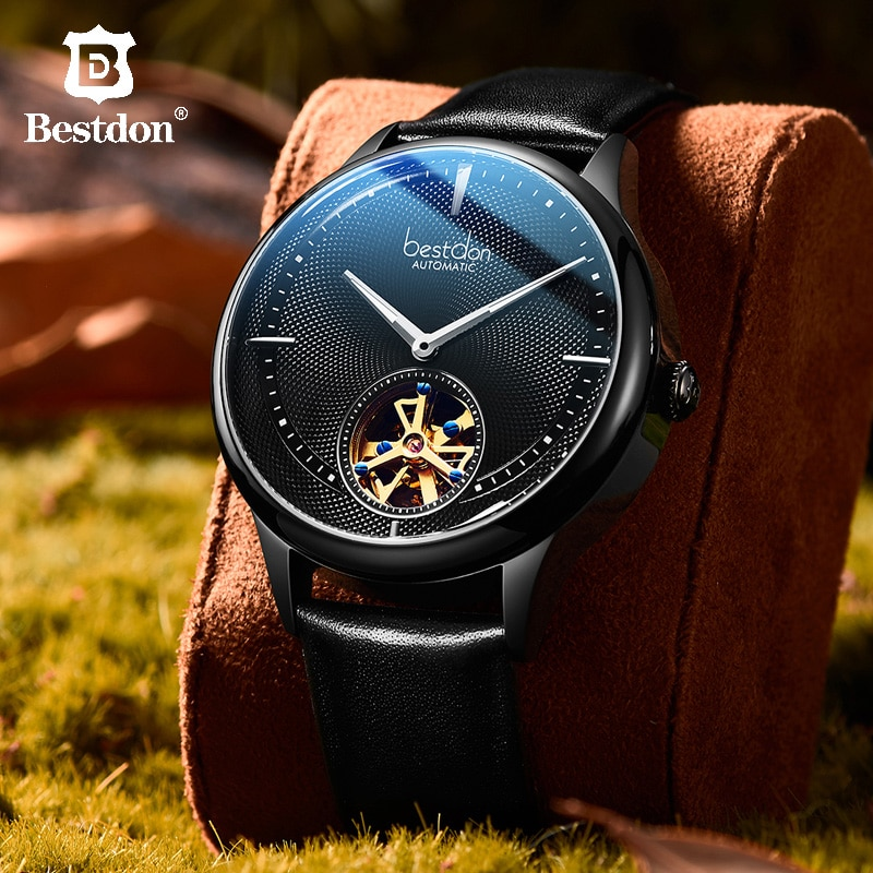 Bestdon Watches Men Fashion Sport 2019 Luxury Brand Automatic Mechanical Waterproof Stainless Steel Leather Watch Gifts Relogio