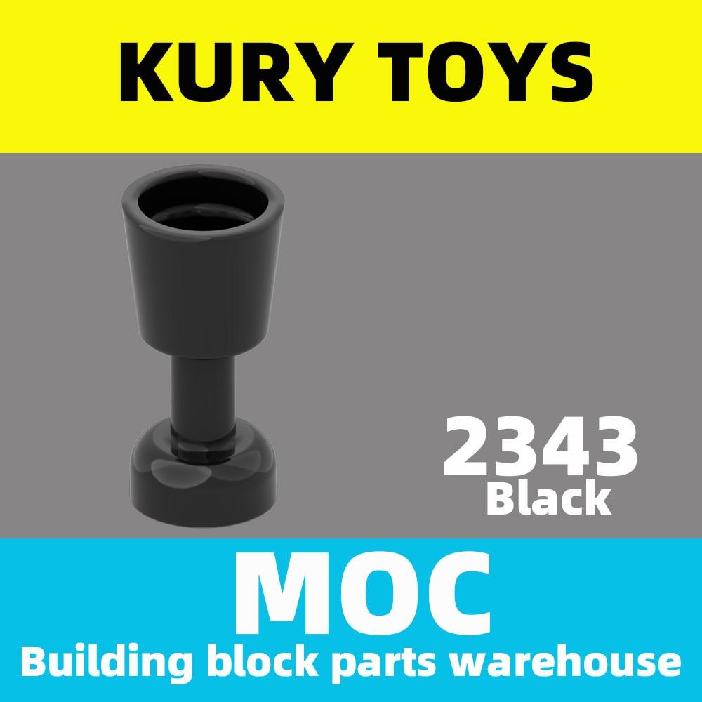 Kury brinquedos diy moc para 2343 100 peças bloco de construção para minifigure, utensílio goblet para brinquedo tijolo