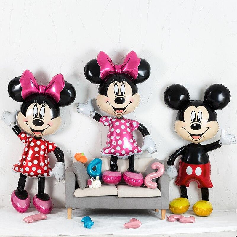 بالون عملاق ميني ميكي لحفلات أعياد الميلاد ، 175 سنتيمتر ، ألعاب كلاسيكية للأطفال ، هدية ، ألومنيوم ، ديكورات حفلات استقبال المولود الجديد
