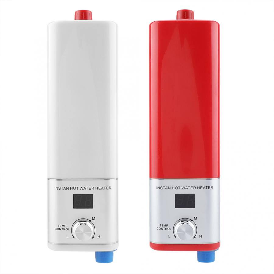 5500W 220V Electric Water Heater Digital Display Instant Flow Heater Tankless Shower Water Fast Heating For Kitchen Bathroom