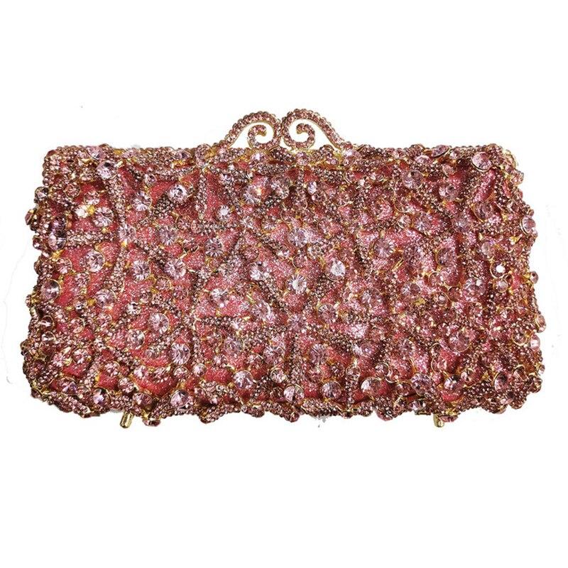 حقيبة يد نسائية من حجر الراين الذهبي ، حقيبة سهرة ، كريستال ، حقيبة يد ، هدية فاخرة ، سلسلة ماسية