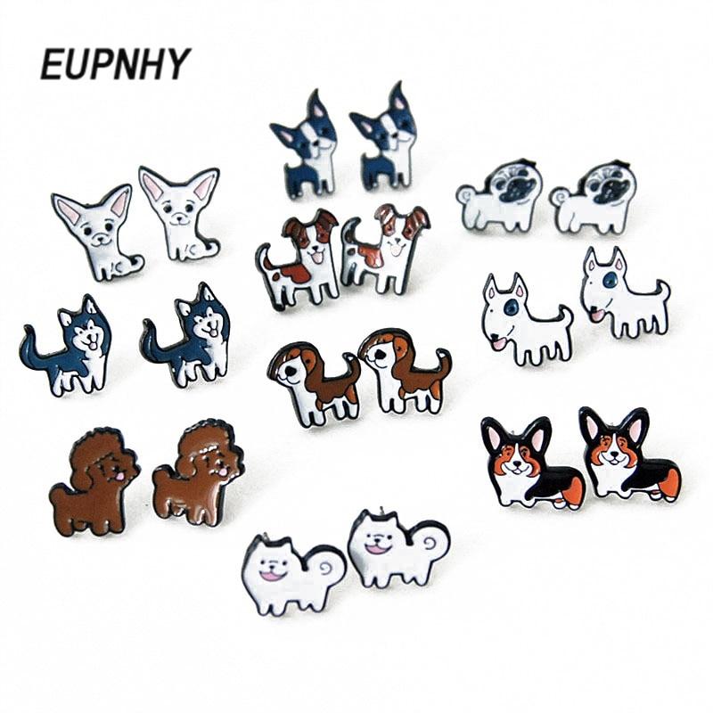 Серьги-шпилька в виде собаки EUPNHY, 2 шт./компл.
