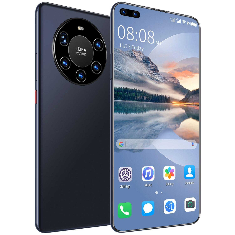 النسخة العالمية رقيقة جدا 7.3 بوصة Mate40 برو + الهاتف الذكي 6000mAh كامل شاشة عشاري النواة 12GB 512GB 4G LTE 5G شبكة الهواتف الذكية