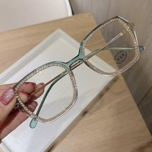 Custom Prescription Women Sunglasses Vintage Clear Lens Glasses Blue Light Eyeglasses Men Optical Le