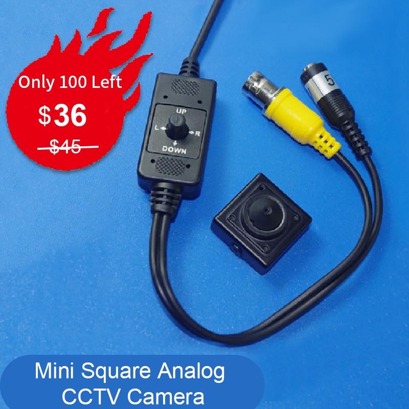 Square Micro CCTV cámara CCD 1/3 Sony 700TVL 960H EXview HAD CCD II Mini cámara de Video carcasa de Metal 25x25mm cámara analógica