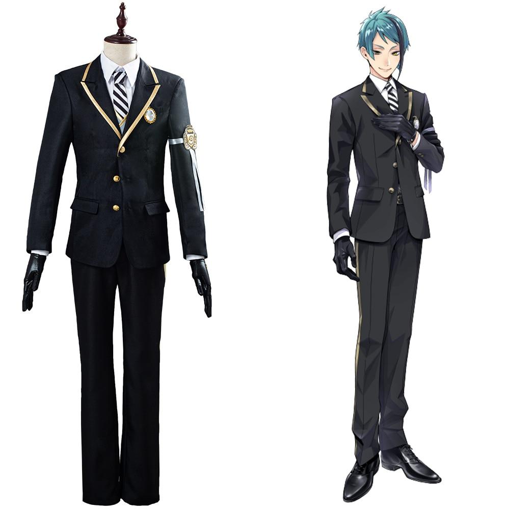 Torcido cosplay país das maravilhas azul/floyd/jade traje cosplay outfit terno completo halloween carnaval trajes para adulto uniforme