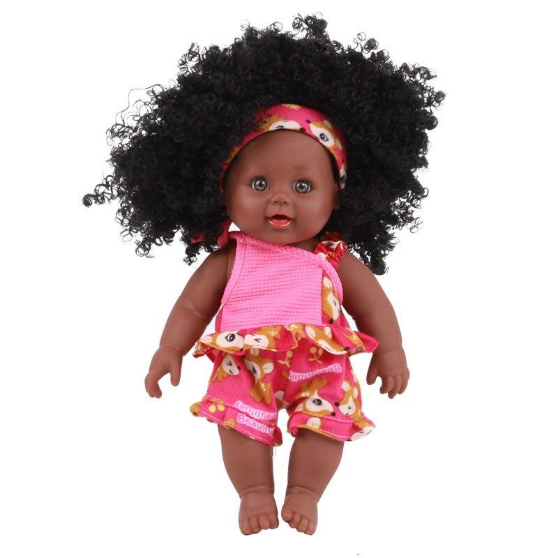 Muñeca bebé africana de 30CM, cubierta negra realista, muñecas étnicas Reborn, Juguetes DIY de silicona suave, juguete de baño, Boneca para niña y niño, regalo