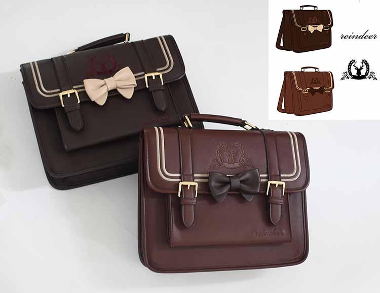 اليابانية JK موحدة التطريز حقيبة الطالب كلية نمط حقائب كتف حقيبة يد حقيبة 3WAY