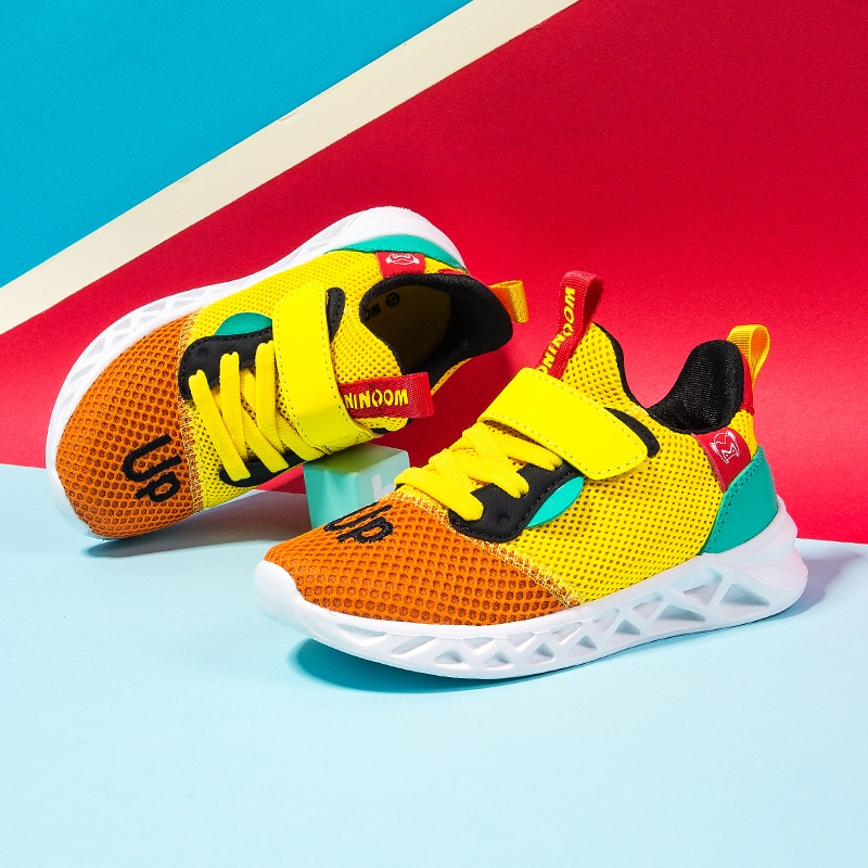 2021 цветные детские кроссовки для бега, легкая повседневная детская спортивная обувь, дышащая сетчатая мягкая обувь для бега, кроссовки для ...