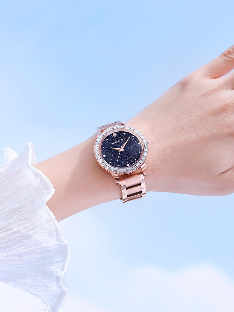 New female watch fashion authentic female famous brand simple temperament net red starry sky atmosphere retro waterproof watch enlarge