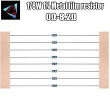 100 pièces 1/8W 1% résistance à la couche métallique 0R 1 1.2 1.5 1.8 2 2.2 2.4 2.7 3 3.3 3.6 3.9 4.3 4.7 5.1 5.6 6.2 6.8 7.5 8.2 ohm