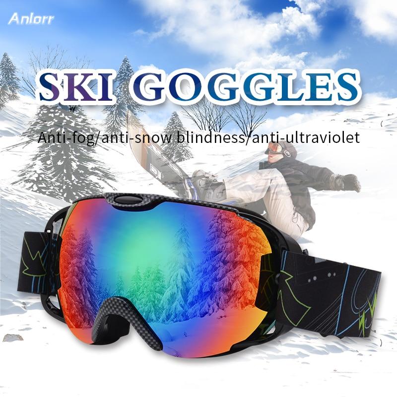 Ski Goggles Double Anti Fogging Glasses Myopia Snow Blindness Windproof Goggle Snowboarding Accessories Motorcycle Mask Men