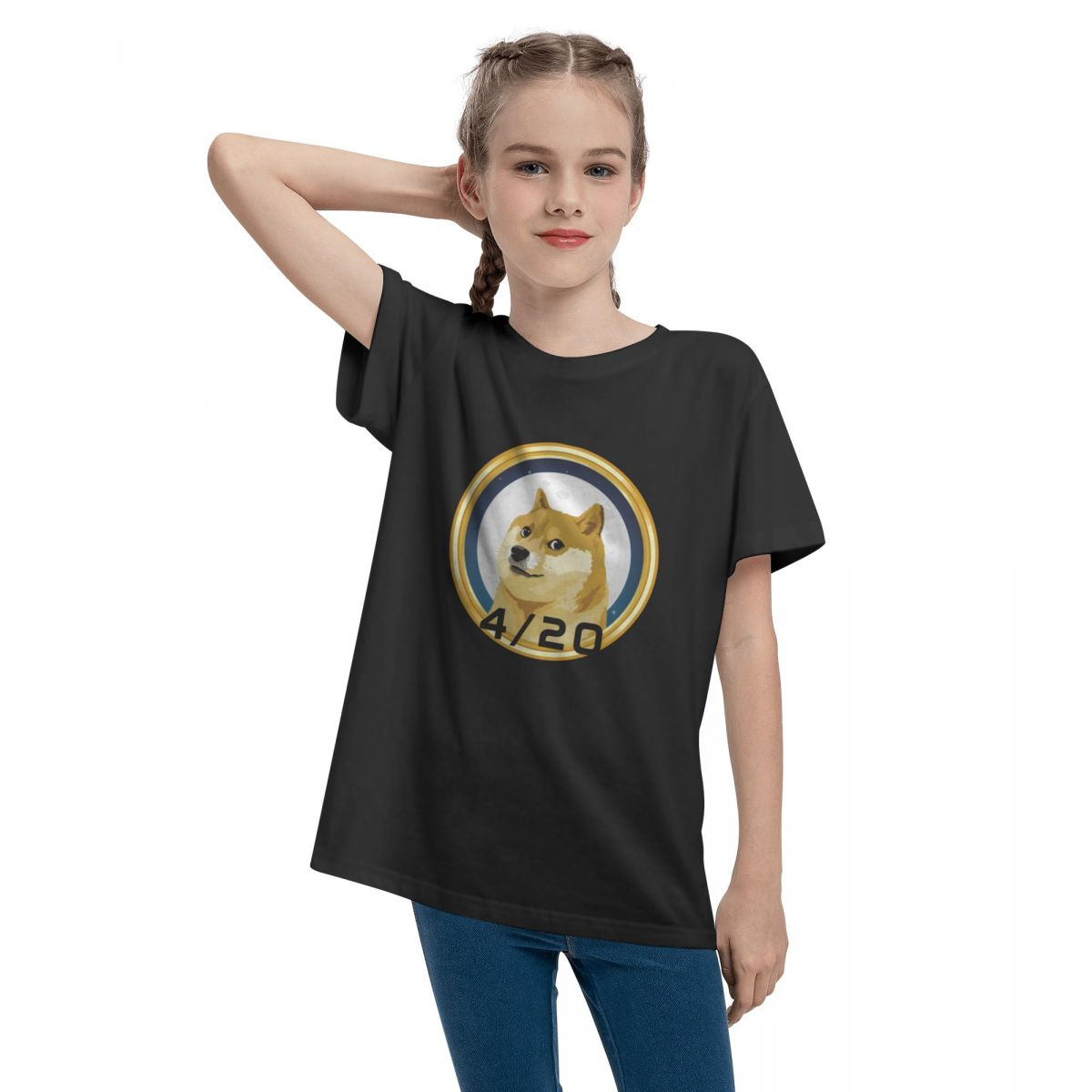Dogecoin Doge Day 420 Stock Market Crypto Funny Comfortable Teenage T-shirt Unisex Comfortable Fashion Summer Tops 100% Cotton