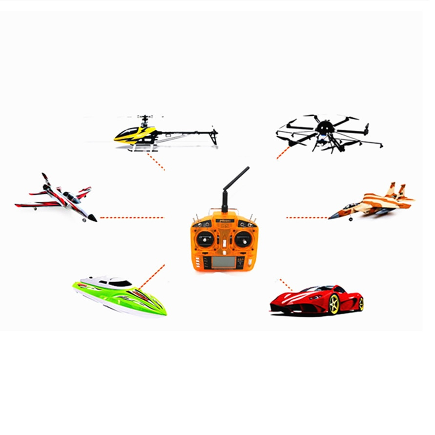DSM2 2.4GHz 6 CH RC Drone Transmitter Radio with MK610 Receptor Receiver Surpass DX6i JR FUTABA for RC Quadcopters RC Car Boat enlarge