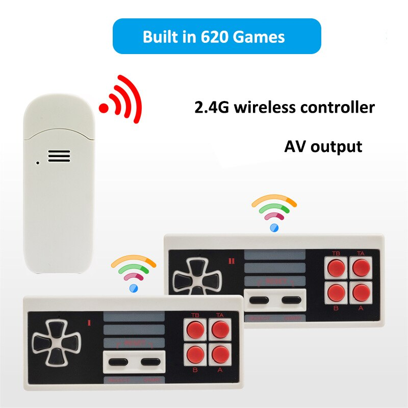 Consola De juegos Retro 620 Fliperama, miniconsola De videojuegos con mando inalámbrico...