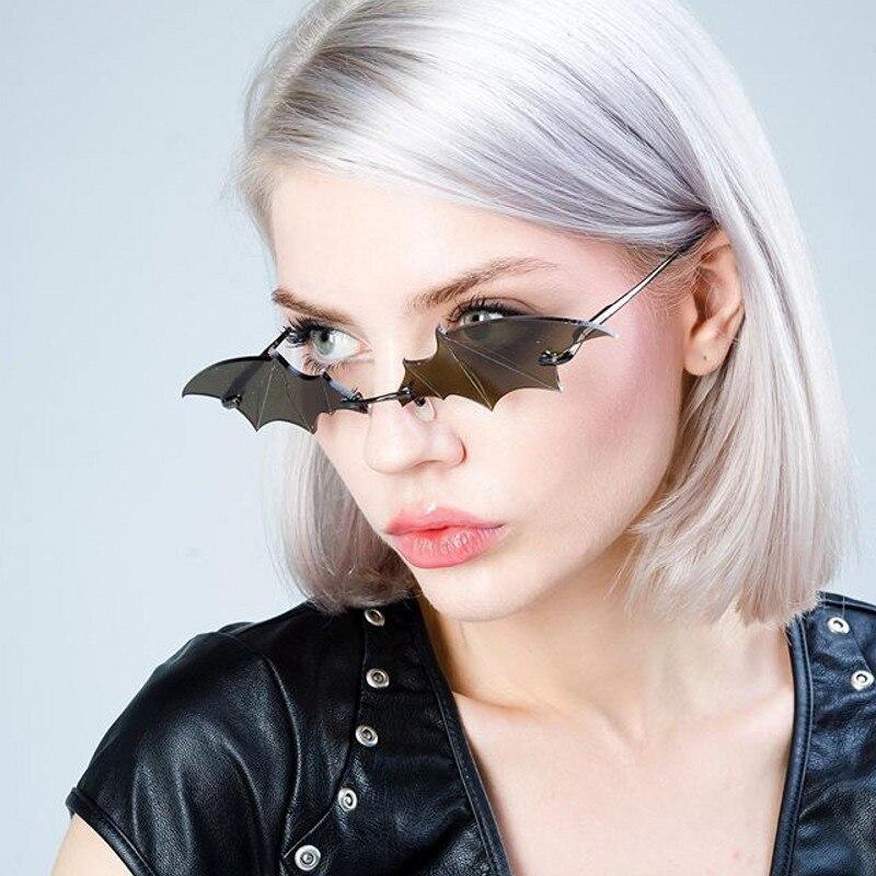 Nuevas Gafas de sol Punk de Estilo Vintage para mujer, Gafas de sol Retro sin montura para hombre, Gafas pequeñas sin marco, Gafas para mujer