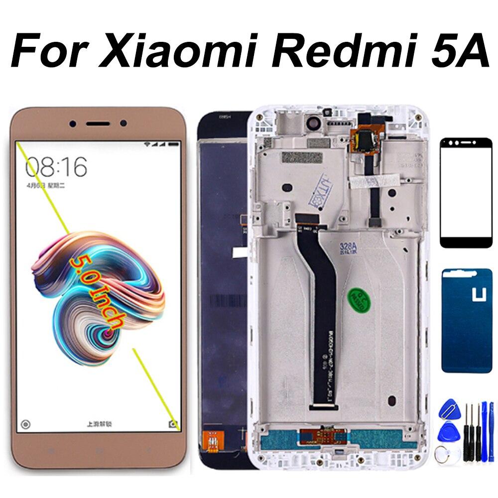 Display lcd para xiaomi redmi 5a digitador da tela de toque sensor assembléia quadro 1280*720 para redmi 5a parte reparo lcd