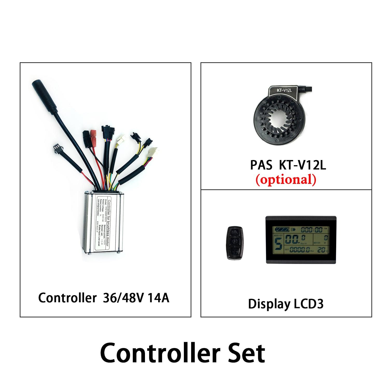 KT كونتنغ تحكم 36 فولت 48 فولت 250 واط 14A مقاوم للماء LCD3 عرض PAS مجموعة دراجة كهربائية تحكم عن عدة Ebike للتحويل