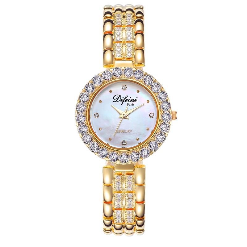 Difini business ladies watch diamond waterproof quartz watch birthday gift female watch new watch female casual fashion enlarge