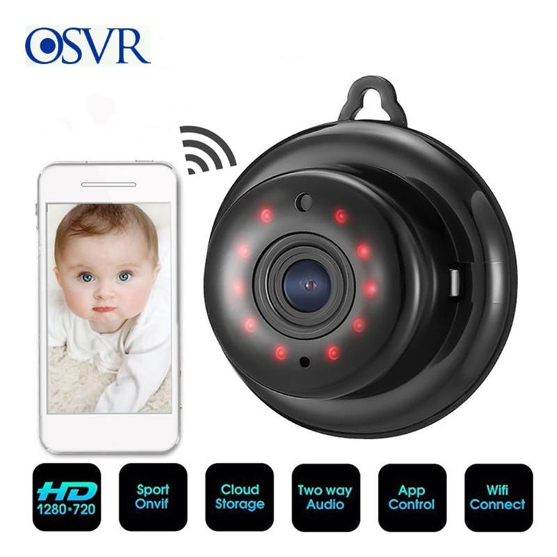 Sans fil Mini WIFI 1080P IP caméra nuage stockage infrarouge Vision nocturne Smart Home sécurité bébé moniteur détection de mouvement carte SD