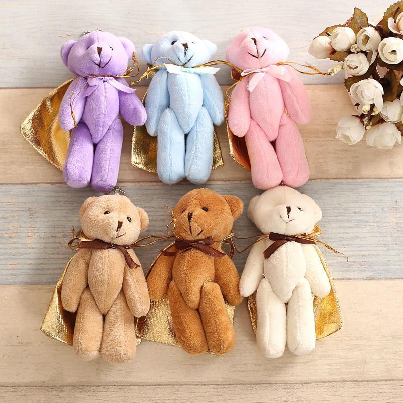 5 unids/lote conjunta Ted oso de peluche de juguete Animal de peluche muñeca osos de peluche con arco de peluche juguetes regalos de boda